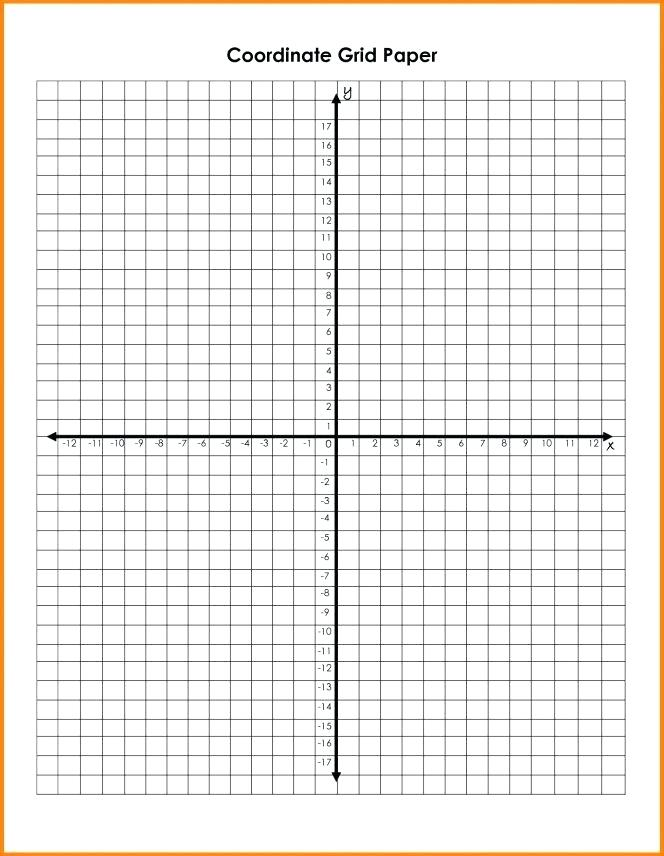 Coordinate Graph Paper Printable