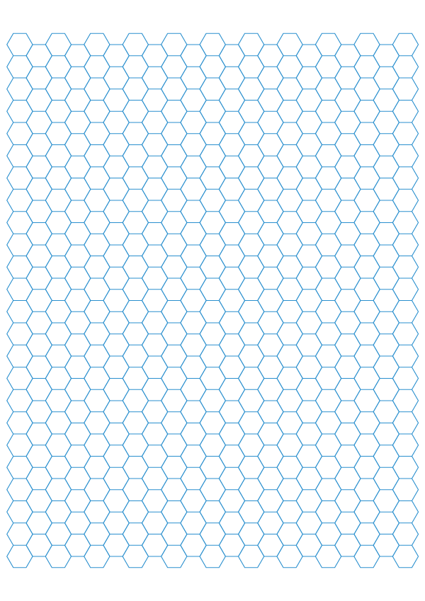 Printable Hexagonal Graph Paper